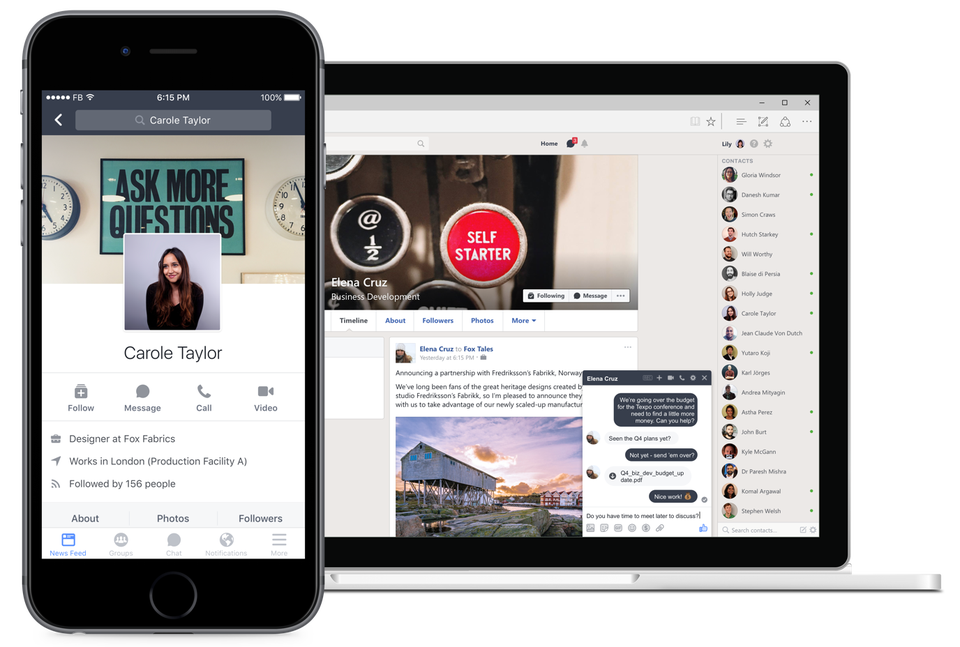 Ứng dụng Facebook Workplace.